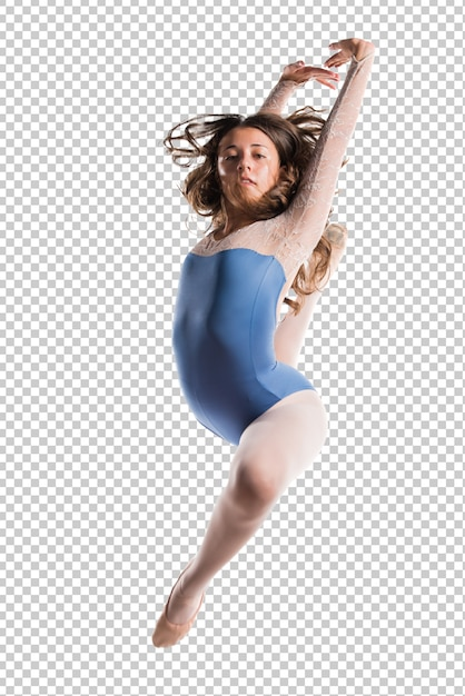 Tiener meisje danser springen Premium Psd