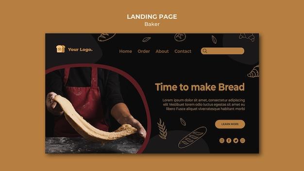Tijd om een bestemmingspagina voor brood te maken Gratis Psd