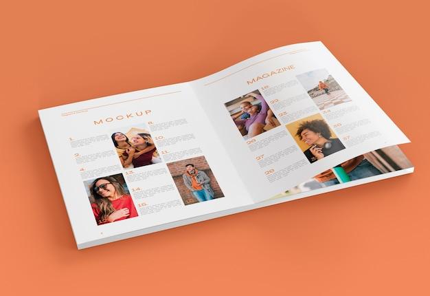 Tijdschriftmodel Premium Psd