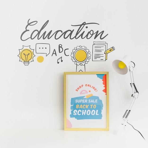 Torna a scuola design di banner in vendita super Psd Gratuite