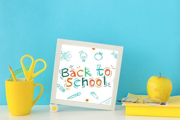 Torna a scuola pubblicità design mockup Psd Gratuite