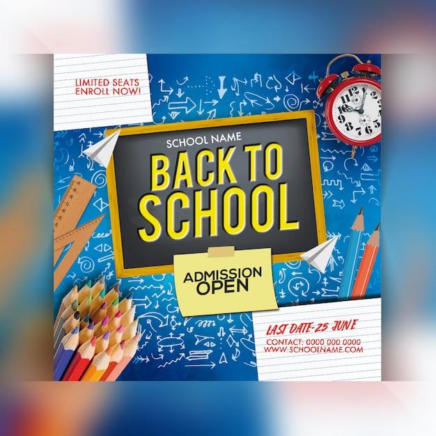 Torna al volantino della festa della scuola Psd Premium