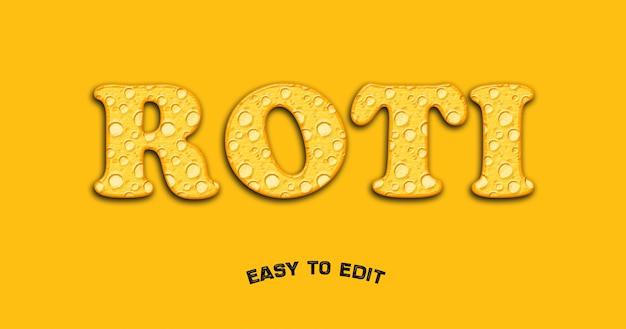 Torta 3d alfabeto trama effetto mockup su sfondo giallo Psd Premium