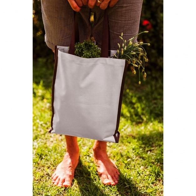 Tote bag mock up di progettazione Psd Gratuite