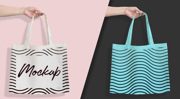 Tote bag mockup hanging bianco Psd Premium