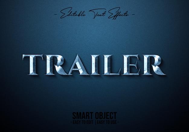 Trailer-text-style-effect Premium Psd