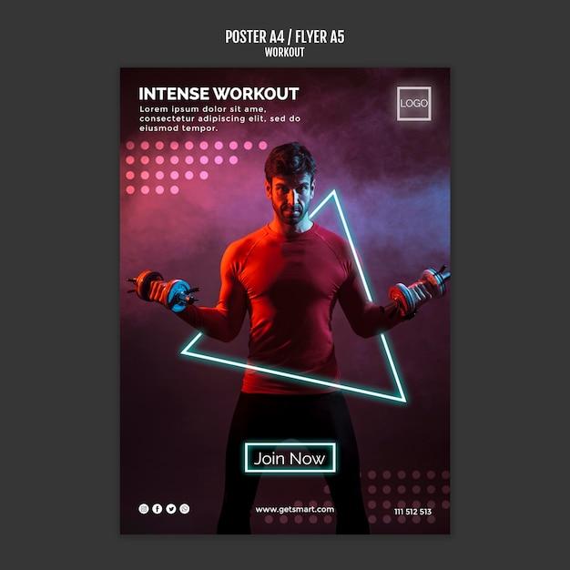 Training concept posterontwerp Gratis Psd