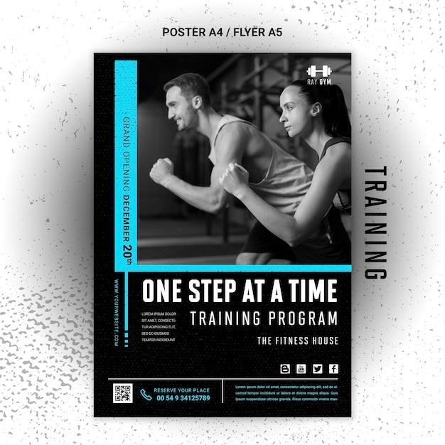 Training folder sjabloon met foto Gratis Psd