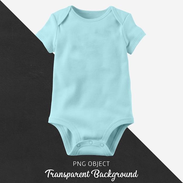 Transparant blauw rompertje voor baby of kinderen Premium Psd