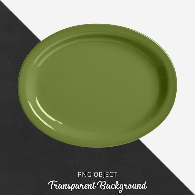 Transparant ellips groen servies Premium Psd