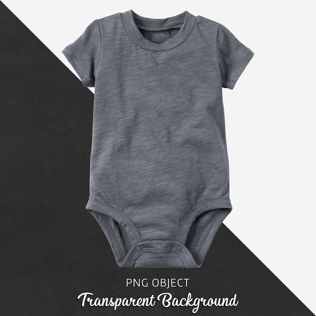 Transparant grijs rompertje voor baby of kinderen Premium Psd