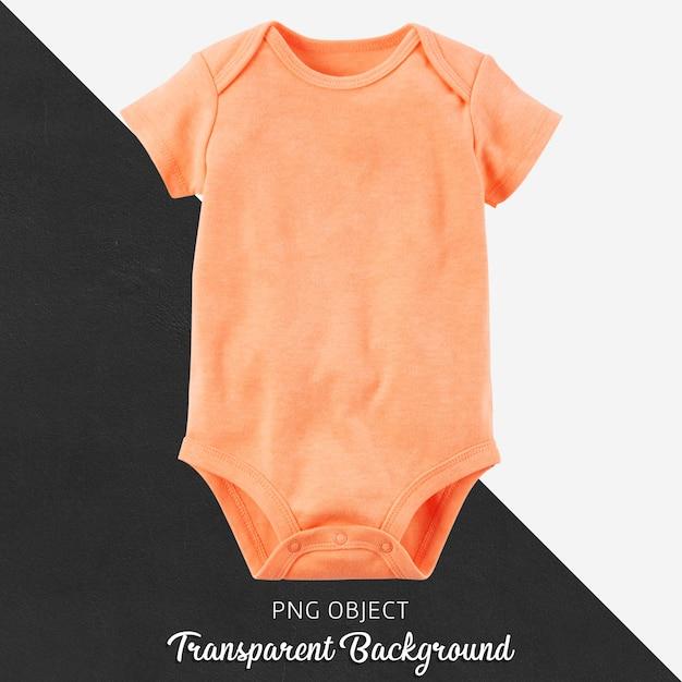Transparant oranje bodysuit voor baby of kinderen Premium Psd