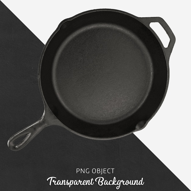 Transparante gietijzeren pan Premium Psd