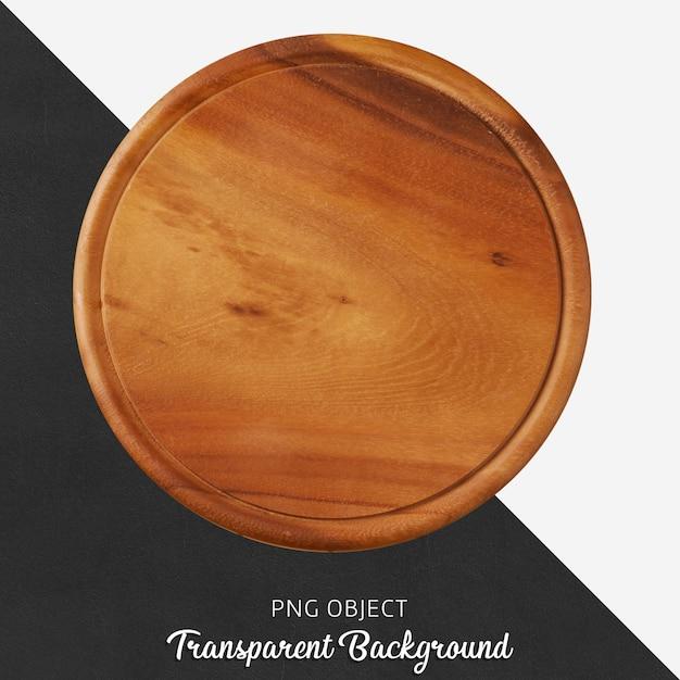 Transparante ronde houten snijplank Premium Psd