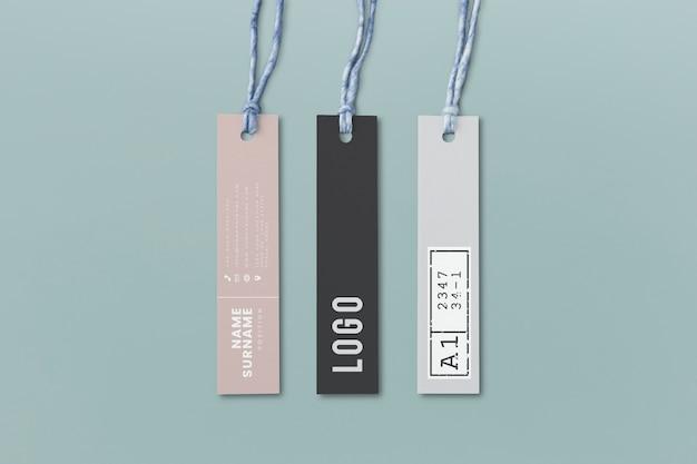 Tre mockup di tag etichetta di moda Psd Gratuite