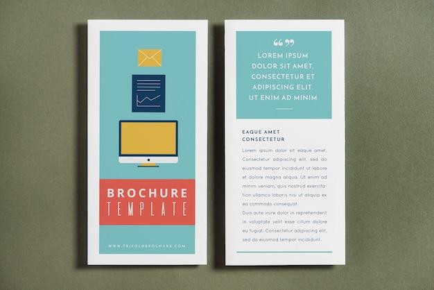 Trifold brochure cover mockup Gratis Psd