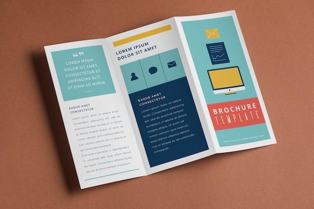 Trifold brochure mockup Gratis Psd
