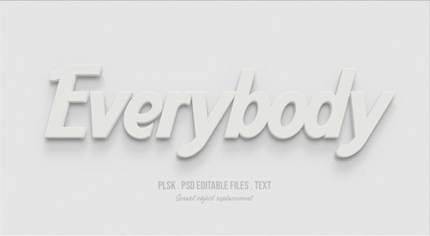 Tutti effetto di stile testo 3d Psd Premium