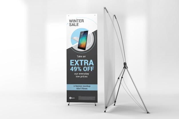 Twee advertentieblokken met x-banners Premium Psd