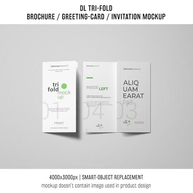 Twee driebladige brochure of uitnodigingsmodellen Gratis Psd