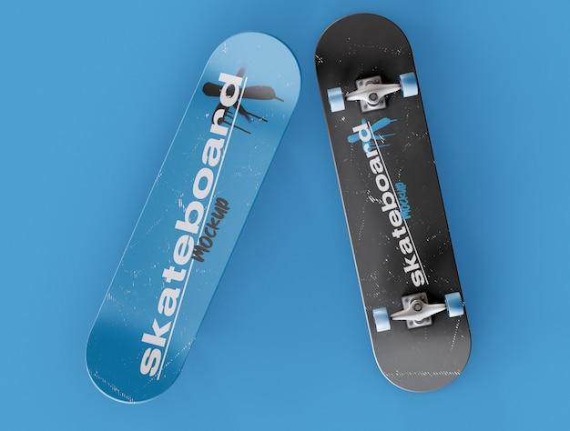 Twee skateboard mockup Premium Psd