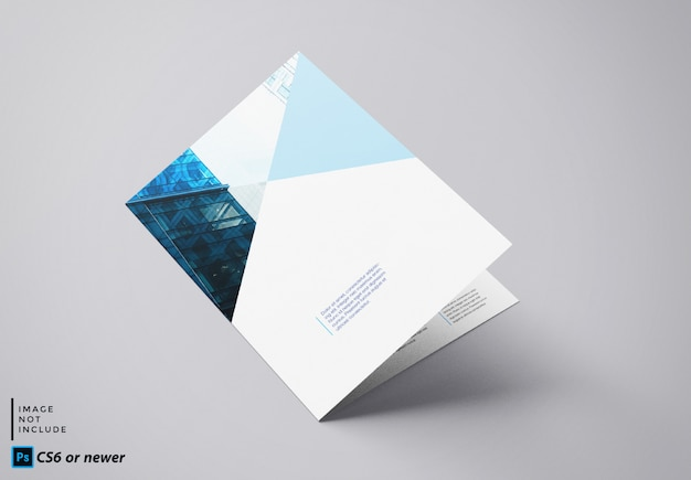 Tweevoudige brochure mock up Premium Psd