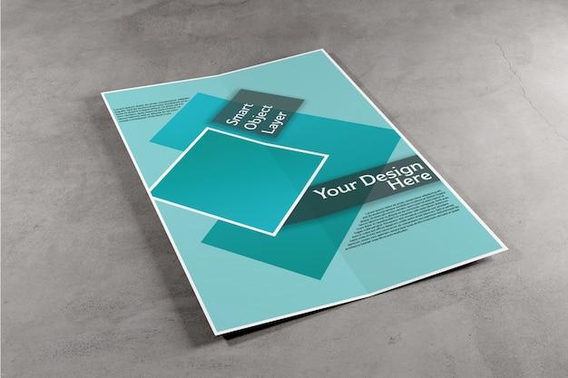 Tweevoudige brochure mock up Premium Psd