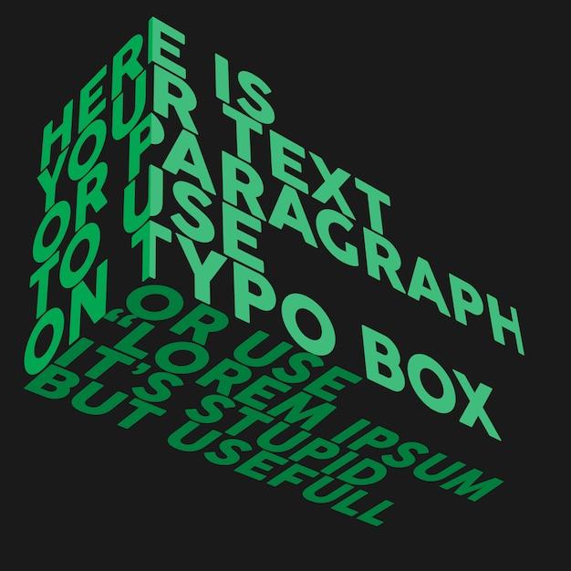 Typografie rechthoekmodel Premium Psd