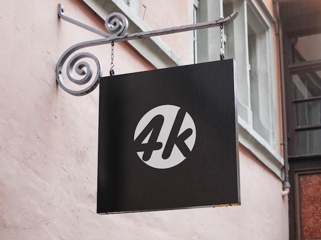 Uithangbord mockup voor bedrijf Premium Psd