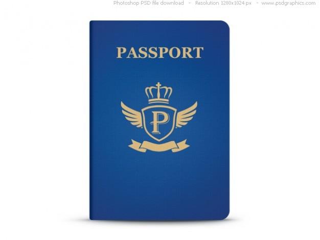 Universal De Pasaporte Azul Plantilla Psd Archivo Psd Gratis
