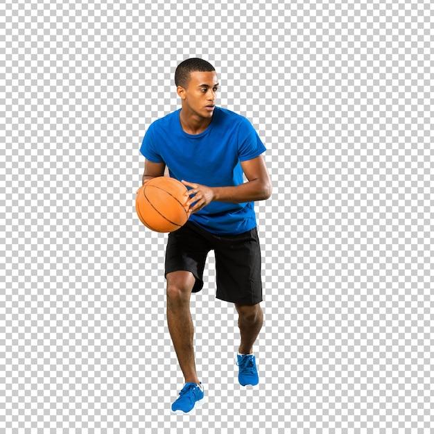 Uomo afroamericano del giocatore di pallacanestro Psd Premium