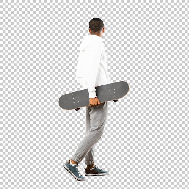 Uomo skater afroamericano Psd Premium