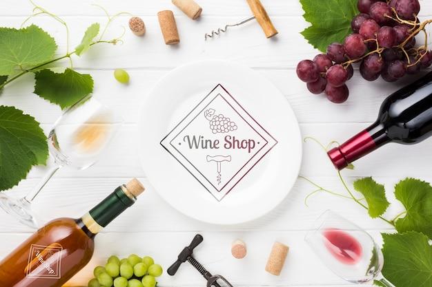 Uva naturale per vino sul tavolo Psd Gratuite