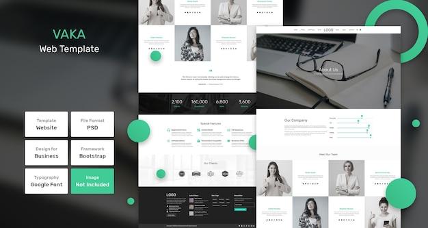 Vaka-websjabloon voor bedrijven en agentschappen Premium Psd
