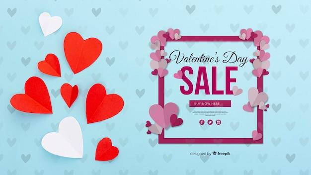 Valentijnsdag verkoop concept Gratis Psd
