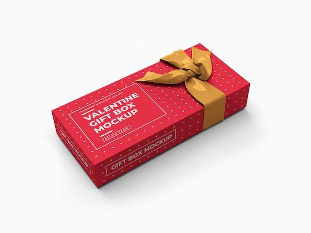 Valentine gift box mockup design geïsoleerd Premium Psd