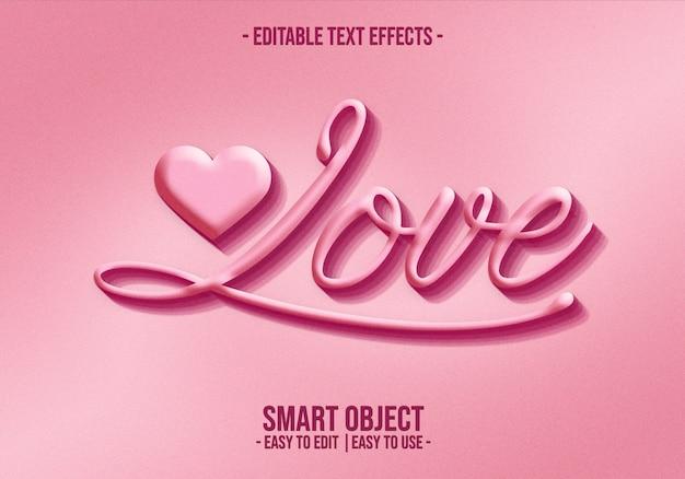 Valentine-text-style-effect Premium Psd