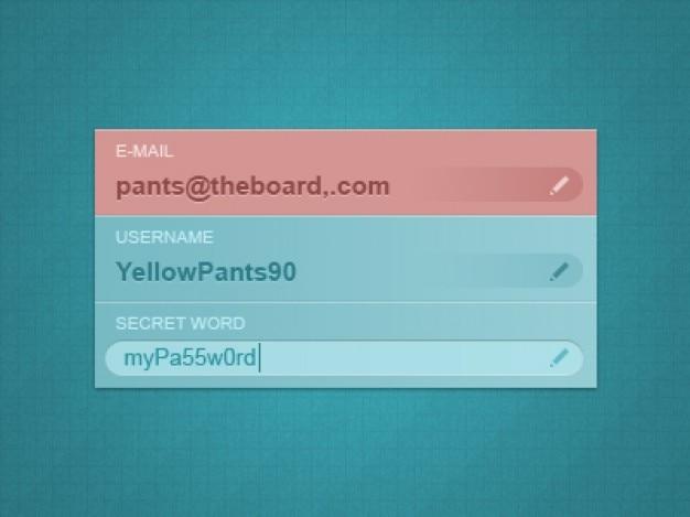 Validatie formulier controle web-elementen Gratis Psd