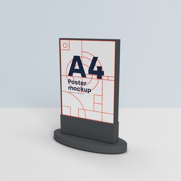 Vallas publicitarias maqueta escena 3d PSD gratuito