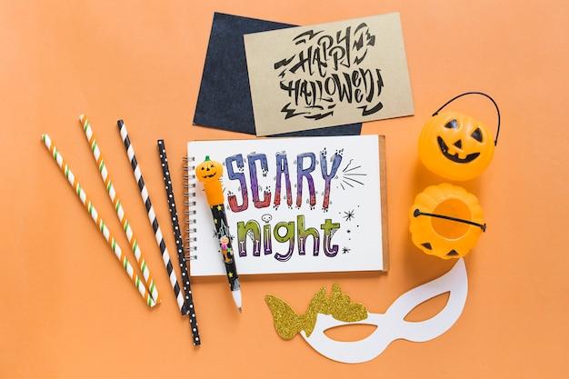 Vari mockup di elementi di halloween Psd Gratuite
