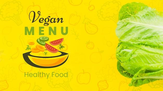 Veganistisch menu met gezonde salade Gratis Psd