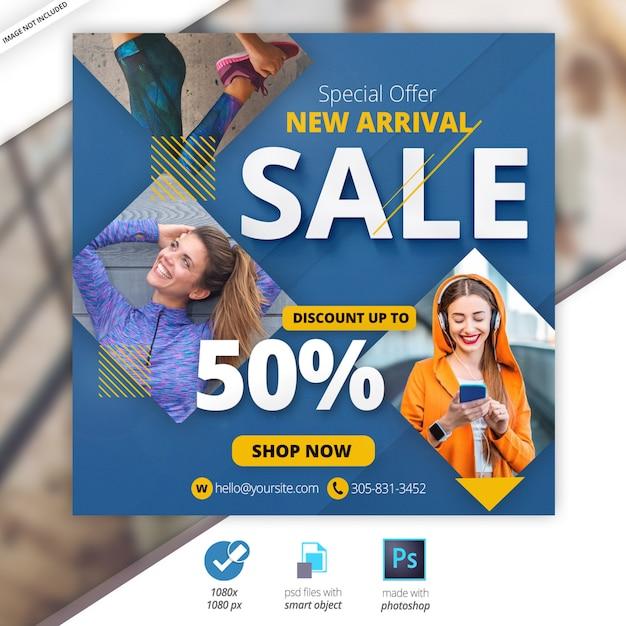 Vendita banner web sociali Psd Premium
