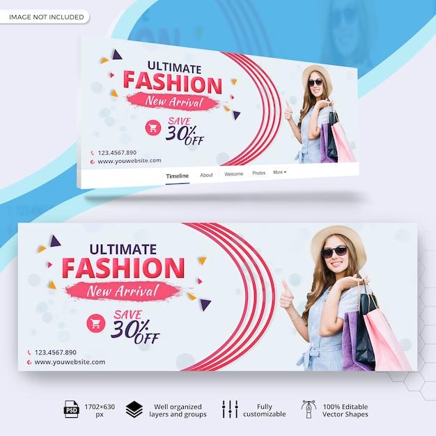 Vendita di moda copertina facebook Psd Premium
