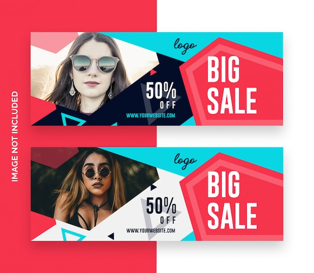 Vendita di moda facebook copre banner Psd Premium