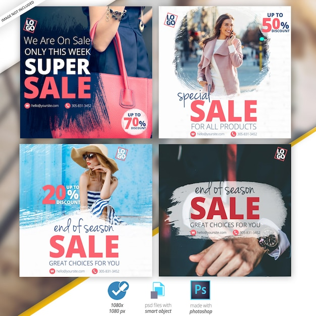 Venta de banners sociales PSD Premium