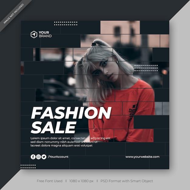 Venta de moda facebook o plantilla de banner web PSD Premium