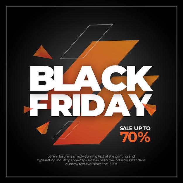 Venta de texto del viernes negro poste de instagram PSD Premium