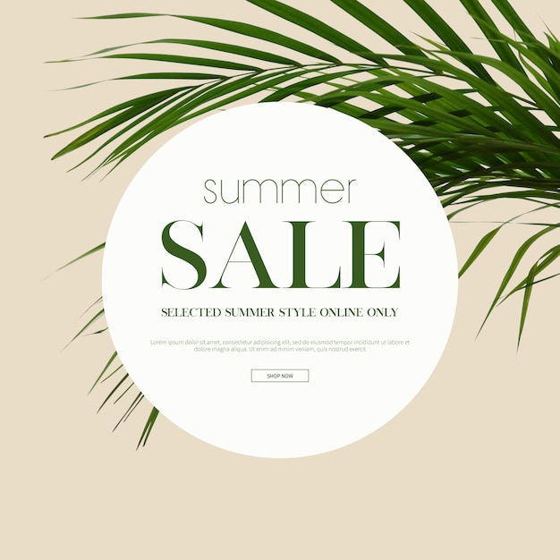 Venta de verano marco y fondo PSD Premium