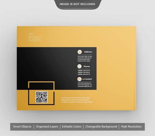 Verbazingwekkende realistische landschapsbrochure of flyer-mockup Premium Psd