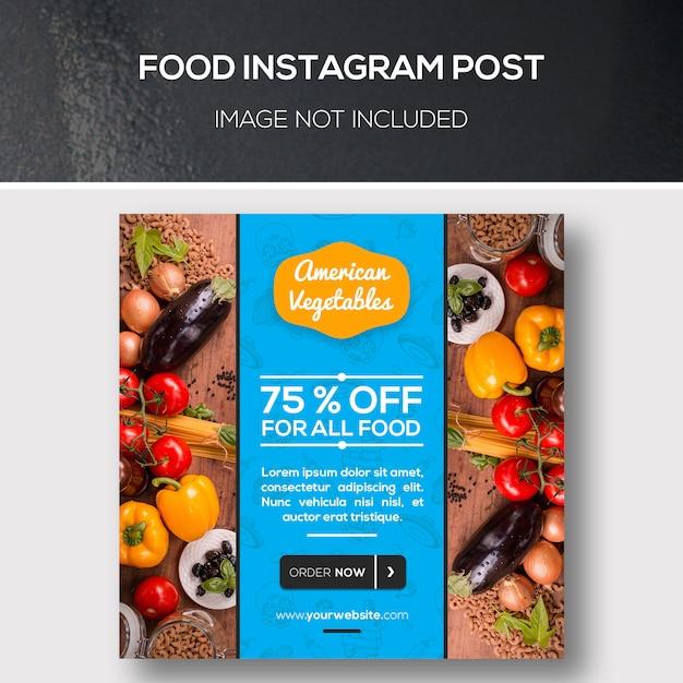 Verhalen over voedsel instagram Premium Psd